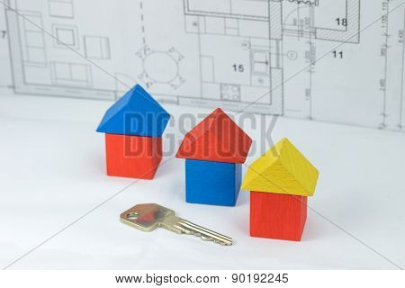 Construction Concept With Key To The House