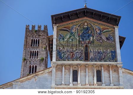Ancient Basilica Of San Frediano In Lucca (italy)