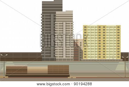 Building On A White Background