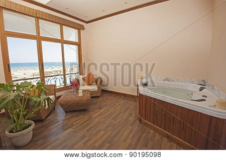 Jacuzzi In A Health Spa Private Room
