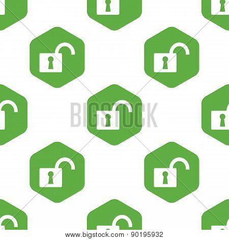 Open padlock pattern