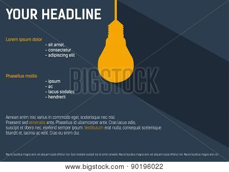 Background With Lightbulb For Your Presentation