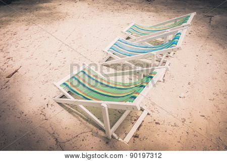 Beach Colorful Chair  Vintage