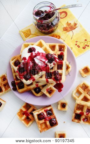 Viennese waffles