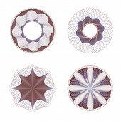 picture of rosettes  - Decorative guilloche rosettes - JPG