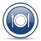 foto of cook eating  - eat icon restaurant symbol   - JPG