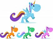 pic of winged-horse  - Cute unicorn winged colorful and color options - JPG