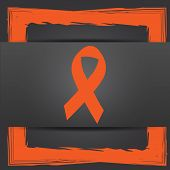 stock photo of causes cancer  - Breast cancer ribbon icon - JPG