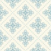 image of scandinavian  - Floral pattern with abstract scandinavian geometric flowers  - JPG