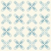 stock photo of scandinavian  - Floral pattern with abstract scandinavian geometric flowers  - JPG