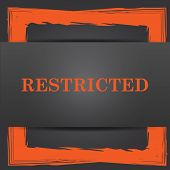 picture of restriction  - Restricted icon - JPG