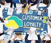 foto of loyalty  - Customer Loyalty Satisfaction Support Strategy Service Concept - JPG