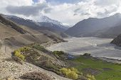 picture of mustang  - Kagbeni city in lower Mustang district Nepal - JPG