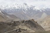 pic of mustang  - Gompa or Monastry in Jharkot Mustang district Nepal - JPG