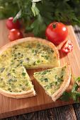 foto of leek  - leek quiche - JPG