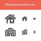 picture of solid  - responsive solid icons about interface  - JPG