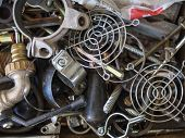 pic of scrap-iron  - Big pile of scrap metal for recycle - JPG