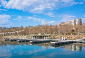 picture of burlington  - the empty slips for boats are ready for the the new season  - JPG