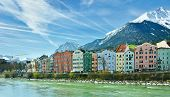 picture of snow capped mountains  - INNSBRUCK AUSTRIA  - JPG