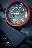 image of mph  - Color detail with the speedometer of a motorcycle - JPG