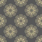 image of damask  - Floral vector oriental background with damask - JPG