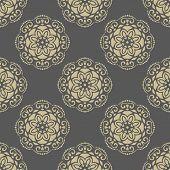 Постер, плакат: Floral Seamless Vector Pattern