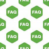 image of faq  - Vector text FAQ in hexagon - JPG