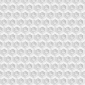 image of hexagon pattern  - Vector seamless pattern with cubes and hexagons - JPG