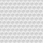 stock photo of hexagon pattern  - Vector seamless pattern with cubes and hexagons - JPG