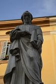 stock photo of priest  - Ludovico Antonio Muratori sculpture - JPG