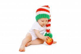 stock photo of gnome  - Christmas and childhood concept  - JPG