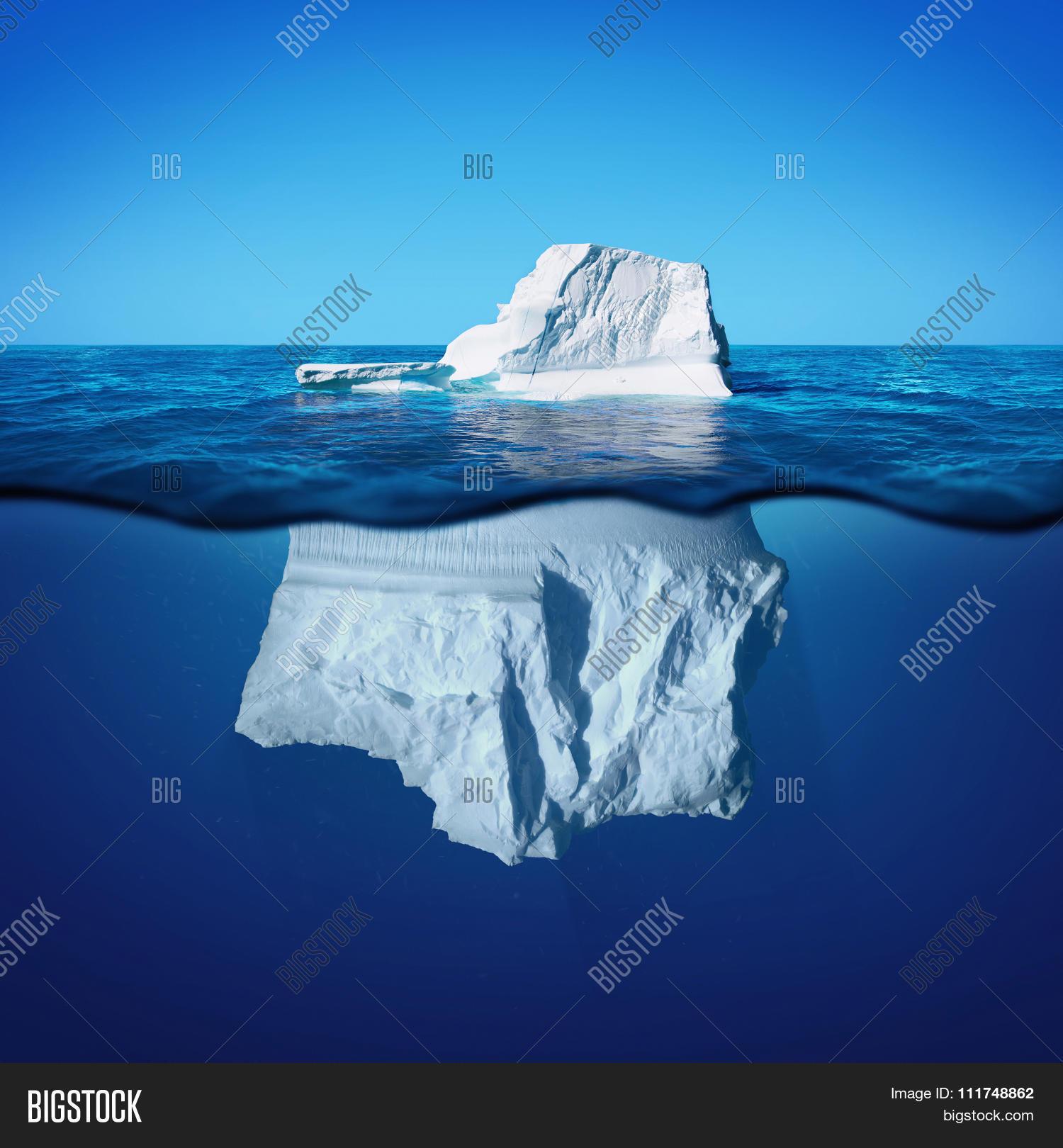 Underwater View Iceberg Beautiful Image & Photo