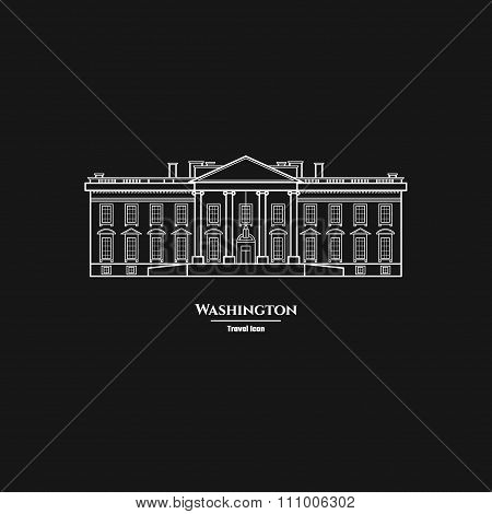 Washington United States White House Icon