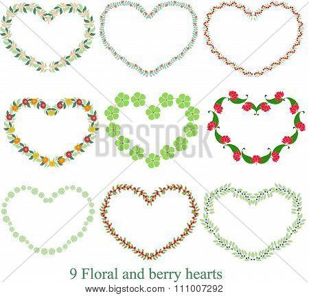 Floral Heart 20X20, vector