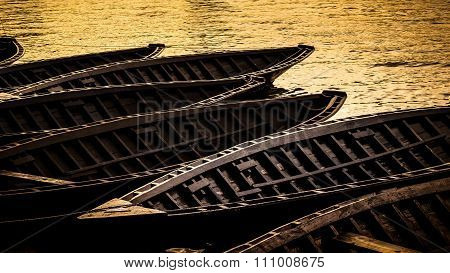 Traditional Vessel, Ladja, In The Neretva Valley In Southern Croatia