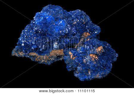 Pedra mineral de azurita.