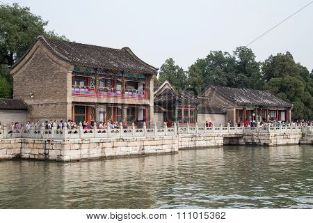 Beijing, China - Circa September 2015: Ouxiang (fragrance Of Lotus) House In Summer Palace,  Beijing
