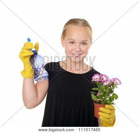 Gardening pretty girl
