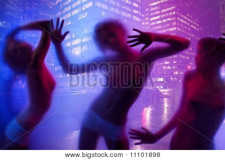 Women Silhouette Dancing