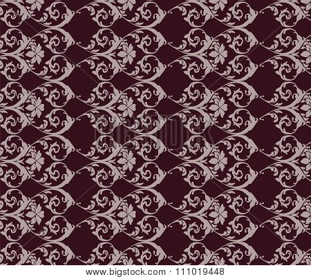 Red classic vintage acanthus pattern