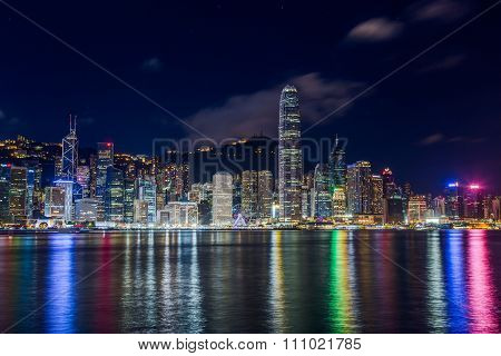 Hong Kong, Sar China - Circa July 2015: Skyline Of Hong Kong Downtown Across Victoria Harbour By  Ni