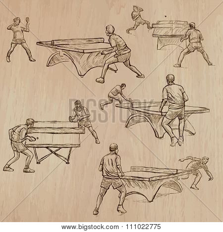 Ping Pong - Freehands, Vector Pack