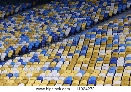 Empty Tribunes Of Nsc Olimpiyskyi Stadium