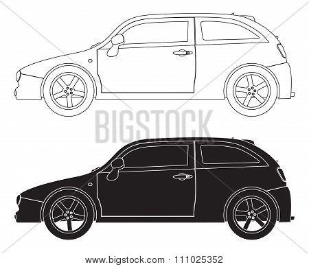 Hatchback Outlines