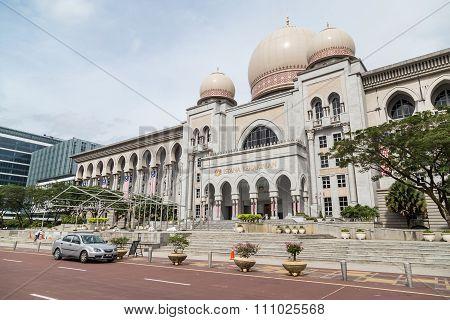 Putrajaya, Malaysia - Circa September 2015: Istana Kehakiman Or Federal Court Of Malaysia And Minist