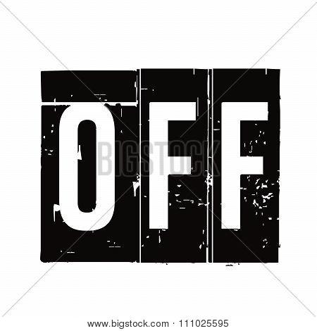 Black Vector Grunge Stamp Off