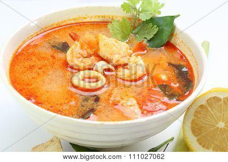 Tom Yam Seafood Soup