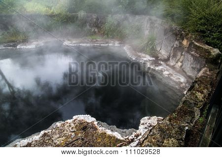 Mist and steam at the Champagne Pool, Rotarua Geothermal area