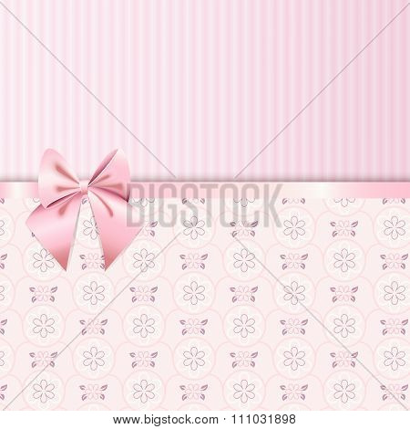 Rose Quartz Flower Seamless Pattern
