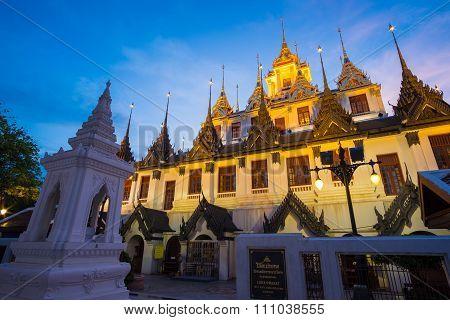Loha Prasat Metal Palace in Wat ratchanadda, Bangkok, Thailand